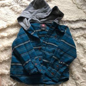 Toddler Quicksilver size 4 flannel hoodie